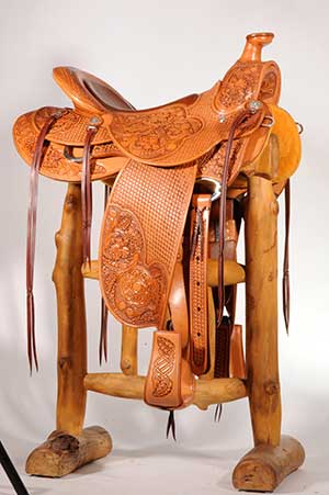 Celtic custom western saddle
